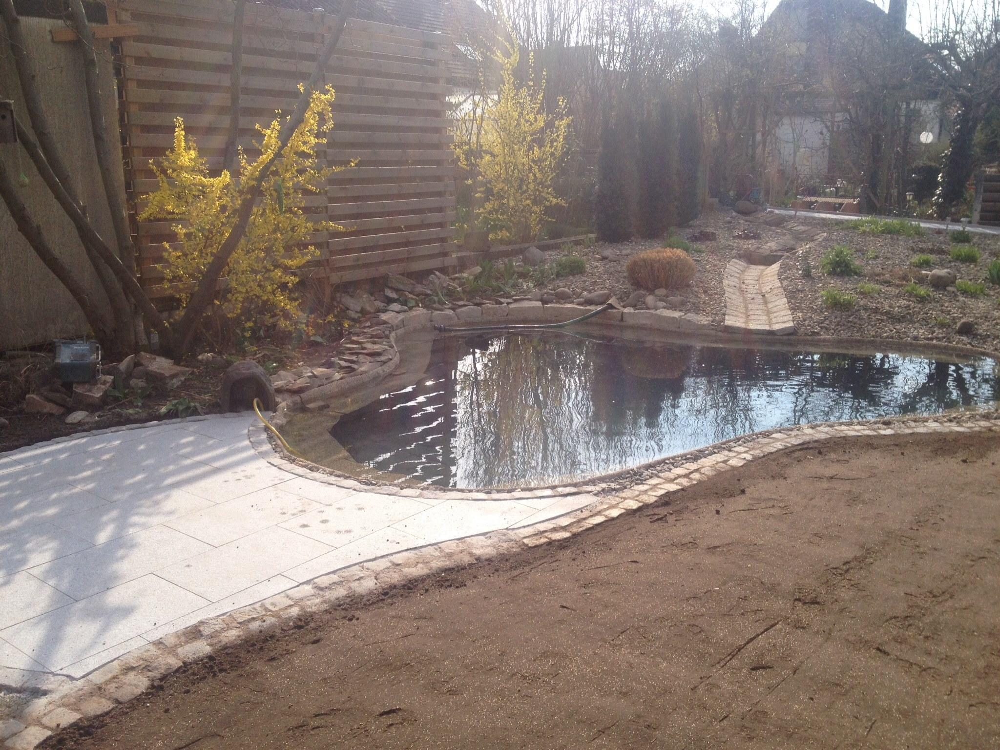 Gartenteichanlage mit pflasterfl che gerhard steiner gmbh for Gartenteichanlagen bilder