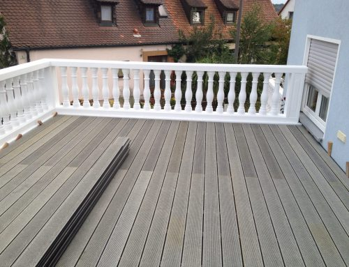 Granit-Zierkies-Pflanzbeet, Rollrase, Wpc-Sichtschutz - Gerhard