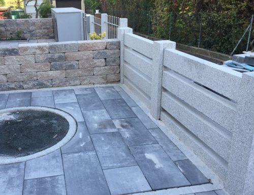 Zaunanlage aus Granit